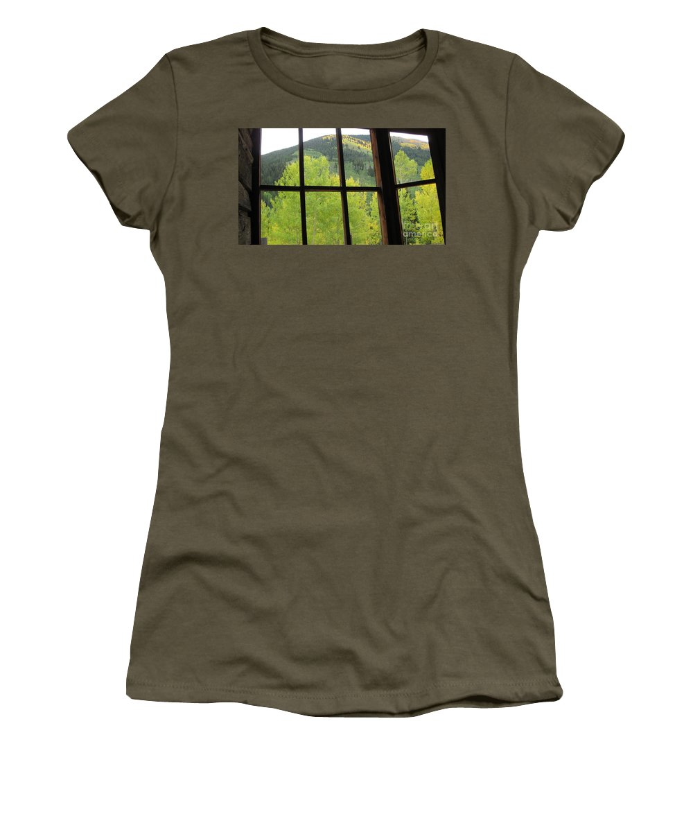 Ashcroft Women's T-Shirt featuring the photograph Fall In Ashcroft by Tonya Hance