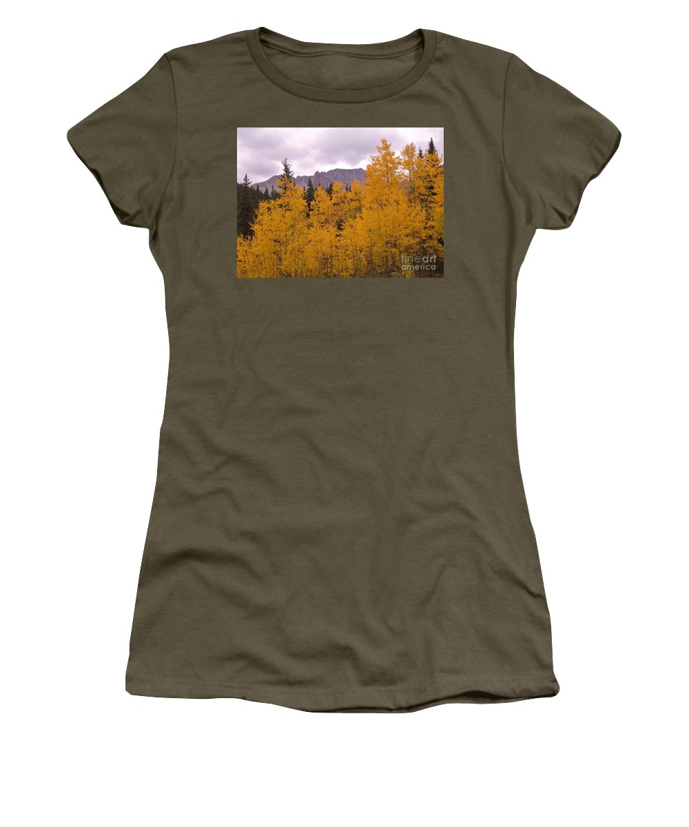 Maroon Bells Women's T-Shirt featuring the photograph Fall In Maroon Bells by Tonya Hance