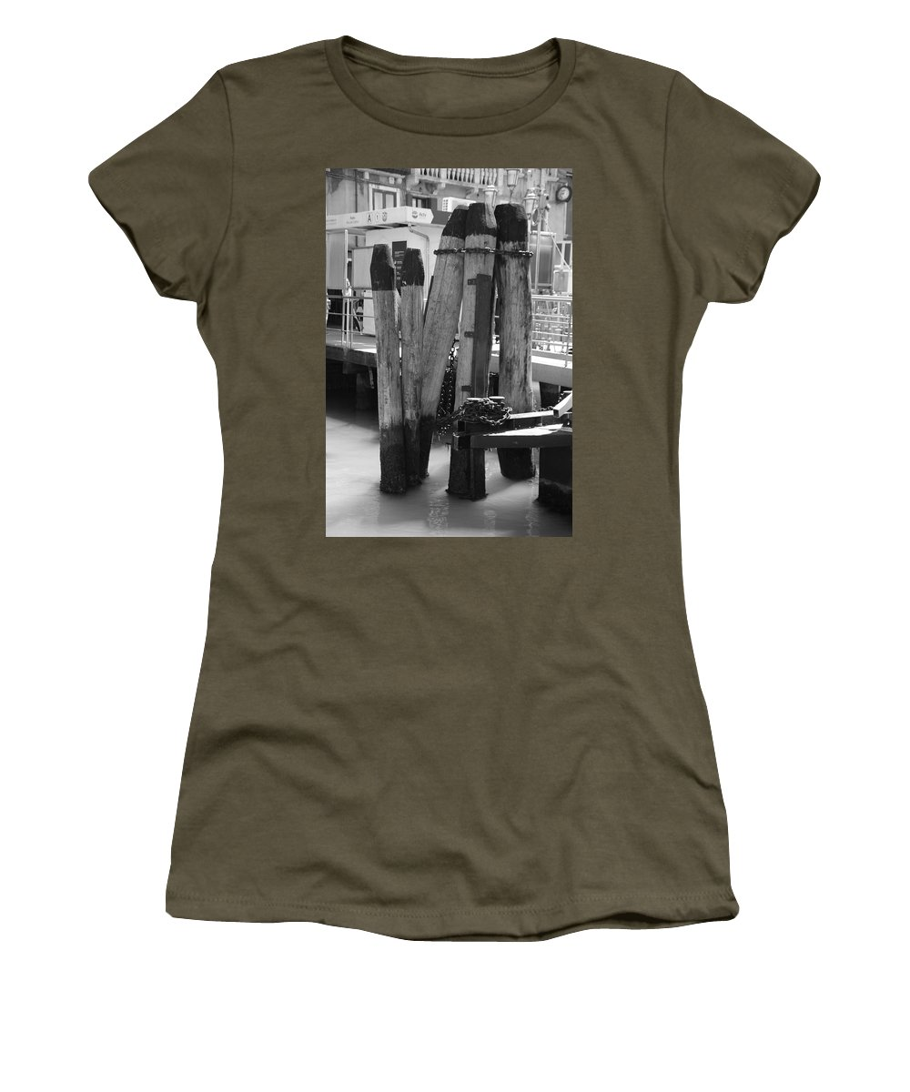 Venice Women's T-Shirt featuring the photograph Family Of Pilings by Eric Tressler