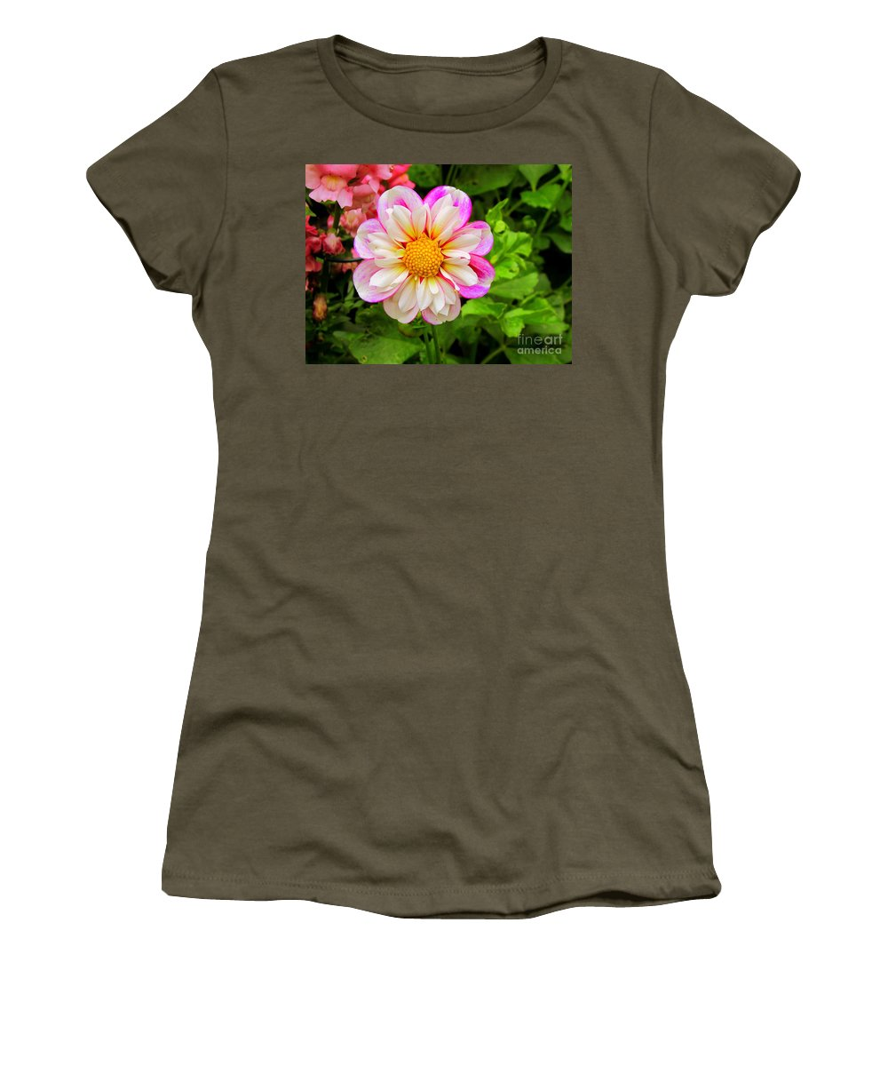 Flowers Women's T-Shirt featuring the photograph Fancy by Elizabeth Dow