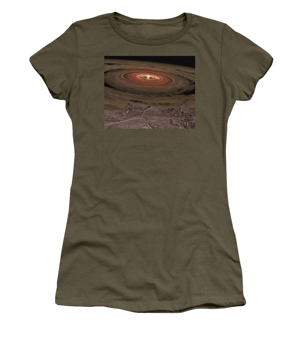 Sunlight Women's T-Shirt featuring the photograph Fantacy Edge Of The World by Paul Fell