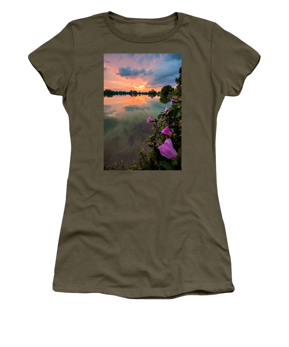 Landscape Women's T-Shirt featuring the photograph Farewell From The Sun by Davorin Mance
