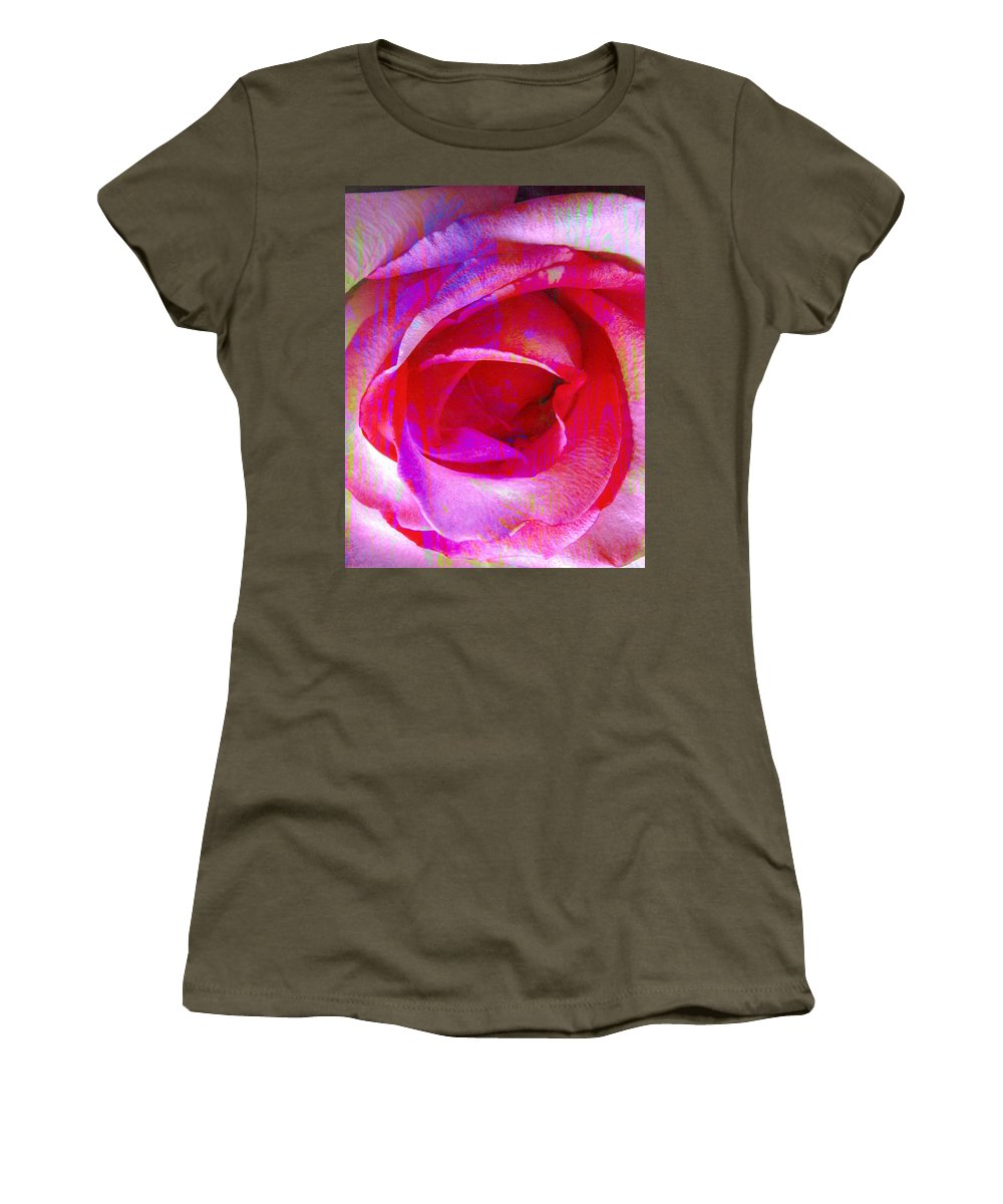 Rose Flower Women's T-Shirt featuring the digital art Feelings by Yael VanGruber