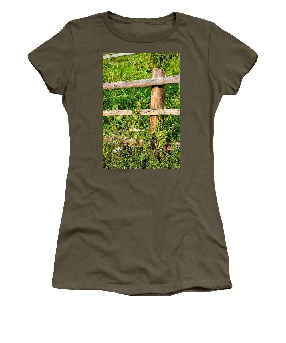 Carpathian Women's T-Shirt featuring the photograph Fence Detail by Alain De Maximy