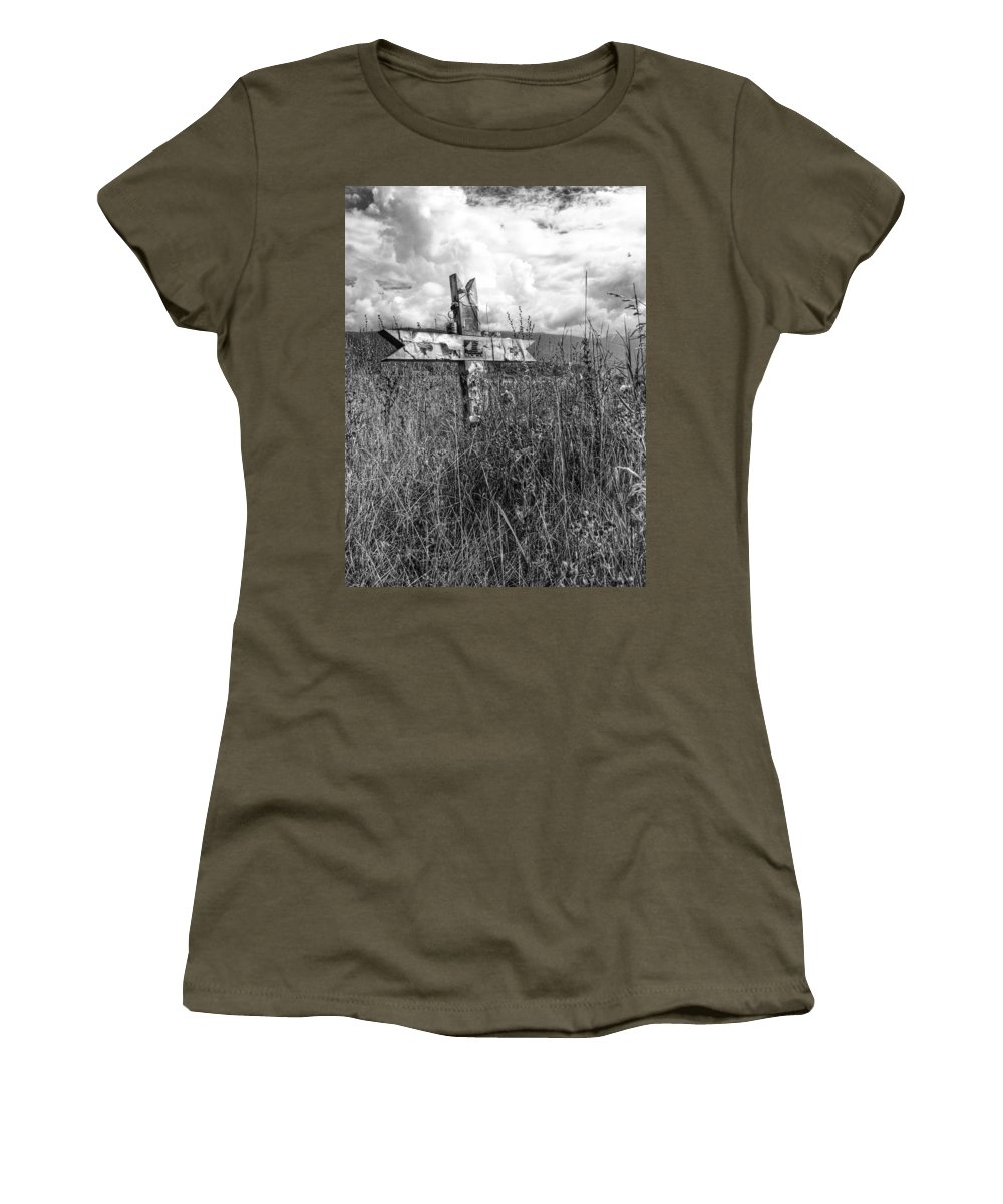 Graveyard Women's T-Shirt featuring the photograph Field Of Faith by The Artist Project