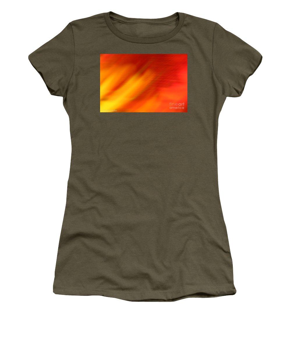 Abstract Women's T-Shirt featuring the photograph Firelight O by Susan Herber