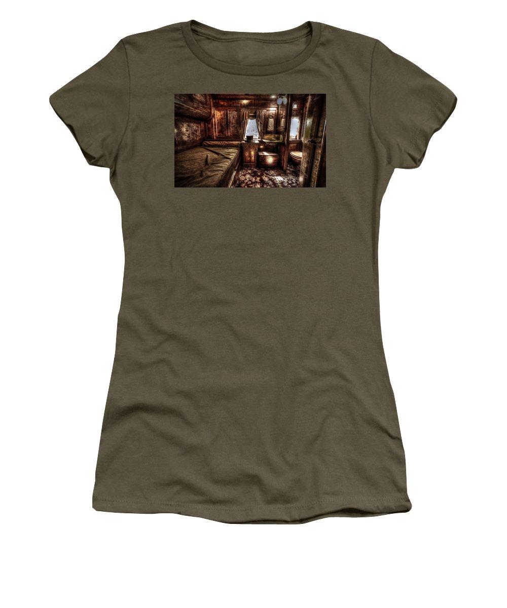 Sleeper Women's T-Shirt featuring the photograph First Class Sleeper by David Morefield