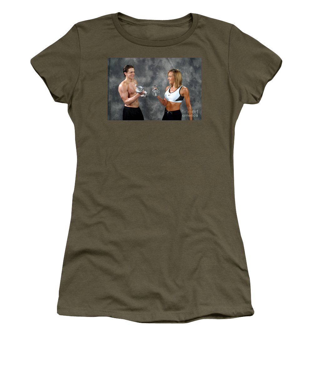 Model Women's T-Shirt featuring the photograph Fitness Couple 9 by Gary Gingrich Galleries