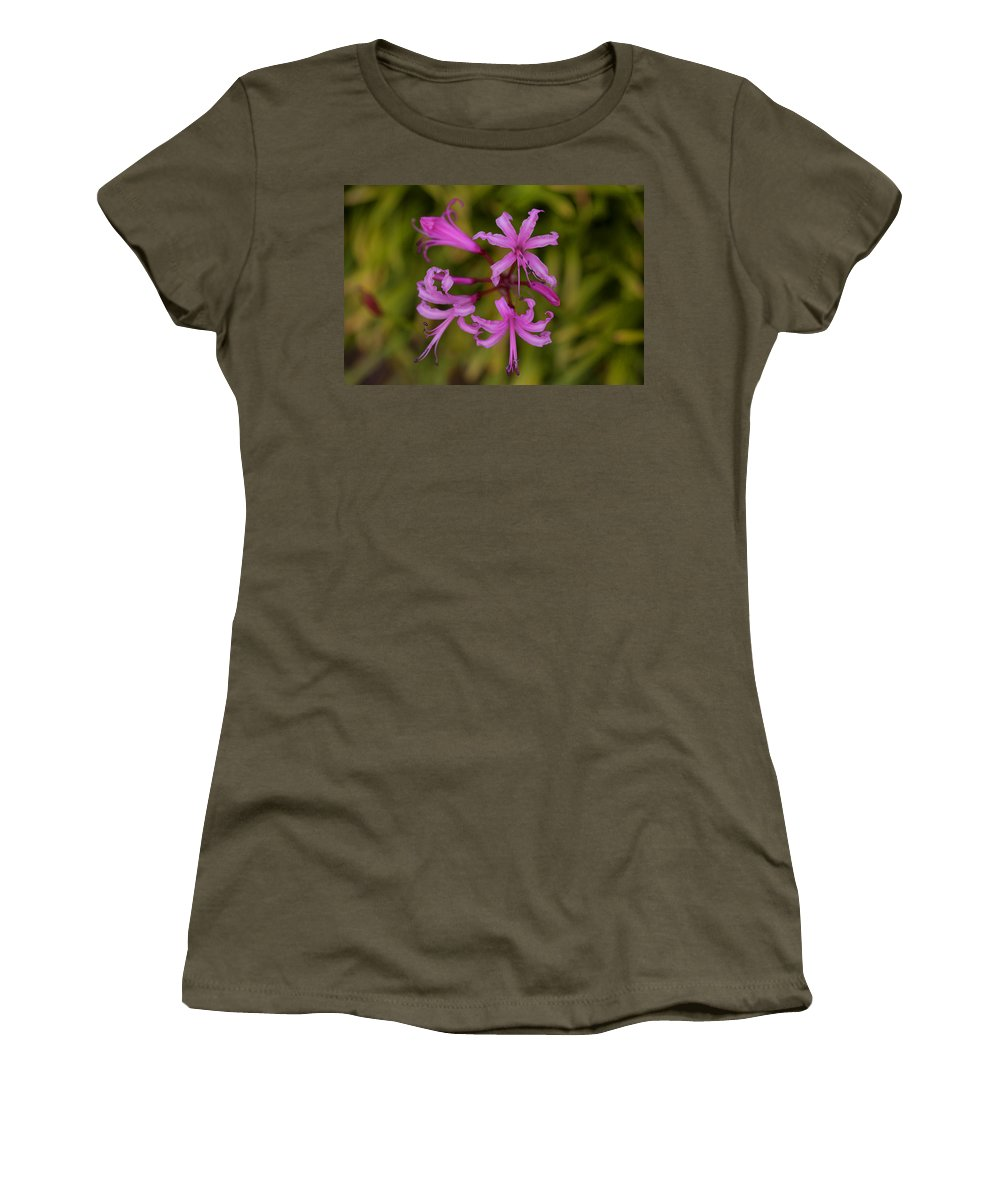 Anemones Women's T-Shirt featuring the photograph Floral Anemones by David Hare