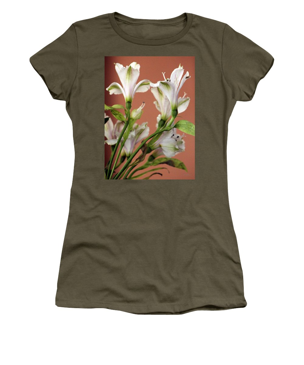 Floral Women's T-Shirt featuring the photograph Floral Highlights by Deborah Crew-Johnson