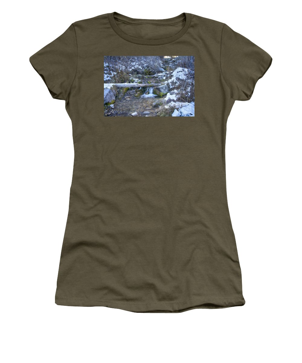 Ice Women's T-Shirt featuring the photograph Flow V18 by Douglas Barnard