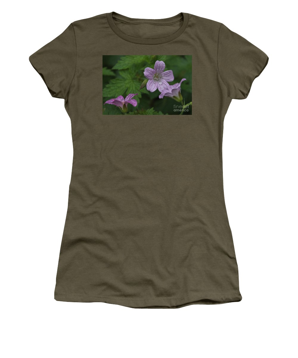 Purple Women's T-Shirt featuring the photograph Flower Bath by William Norton