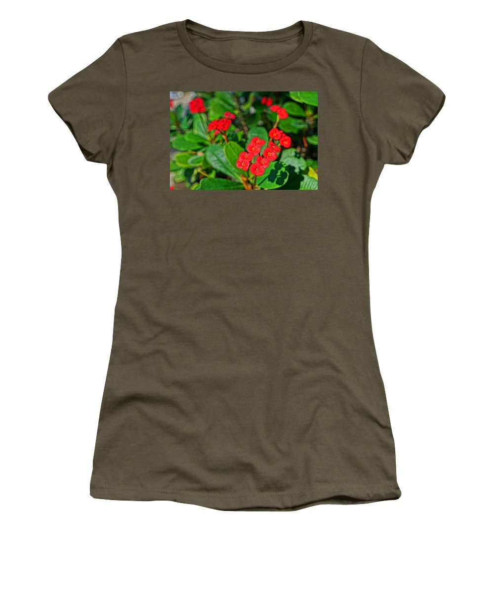 Ronald Chacon Women's T-Shirt featuring the photograph Flowers 2 by Ronald Chacon