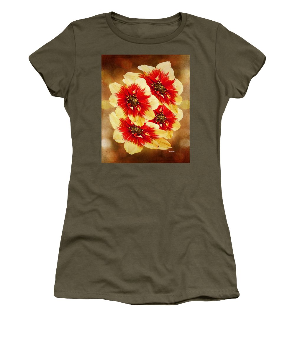 Flower Women's T-Shirt featuring the photograph Flowers Of Flowers by Angela Stanton