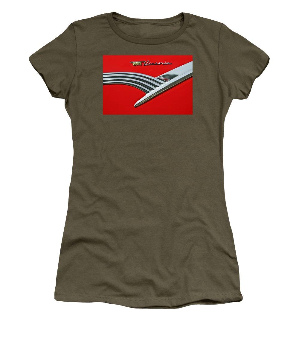 Car Women's T-Shirt featuring the photograph Ford Crown Victoria Emblem by Jill Reger
