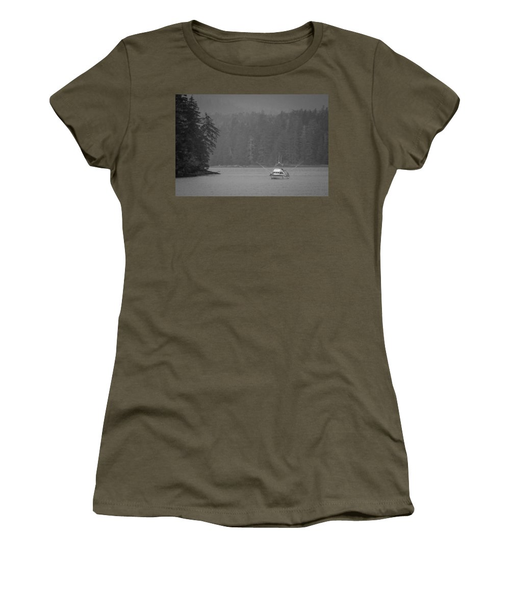 Transportation Women's T-Shirt featuring the photograph Forest Fishing by Melinda Ledsome