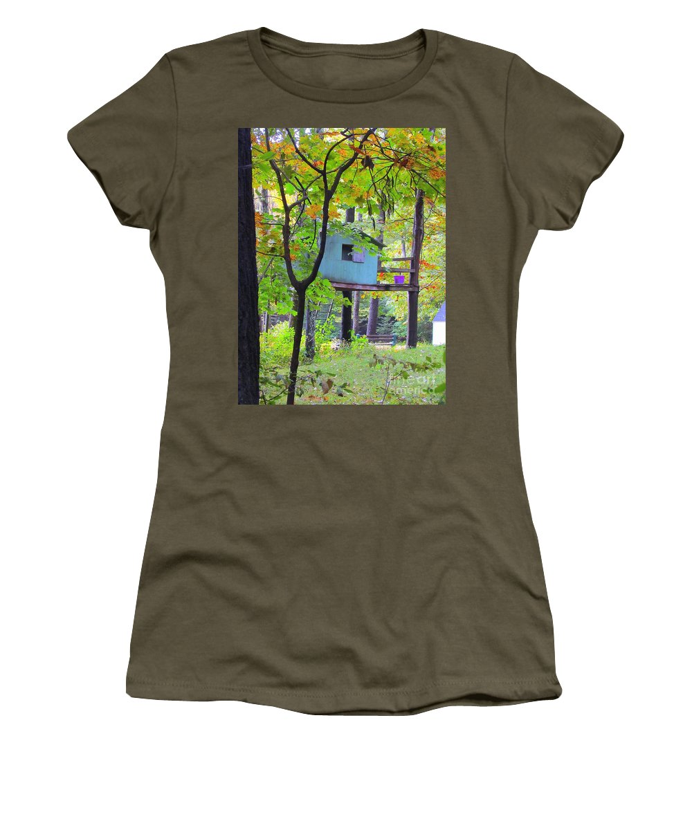 Tree House Women's T-Shirt featuring the photograph Forgotten Friend by Elizabeth Dow