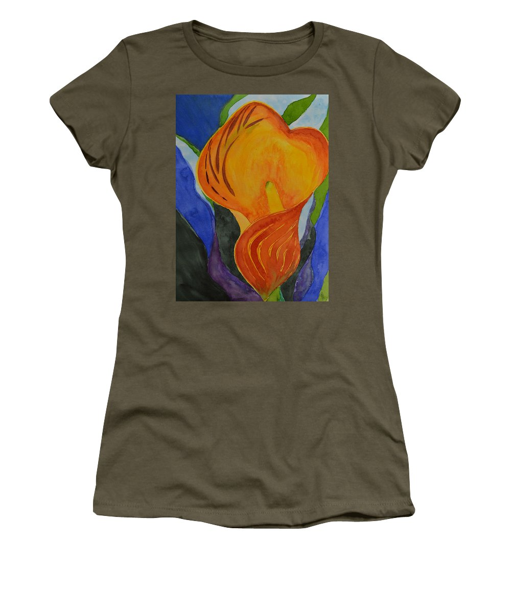 Lily Women's T-Shirt featuring the painting Form by Beverley Harper Tinsley