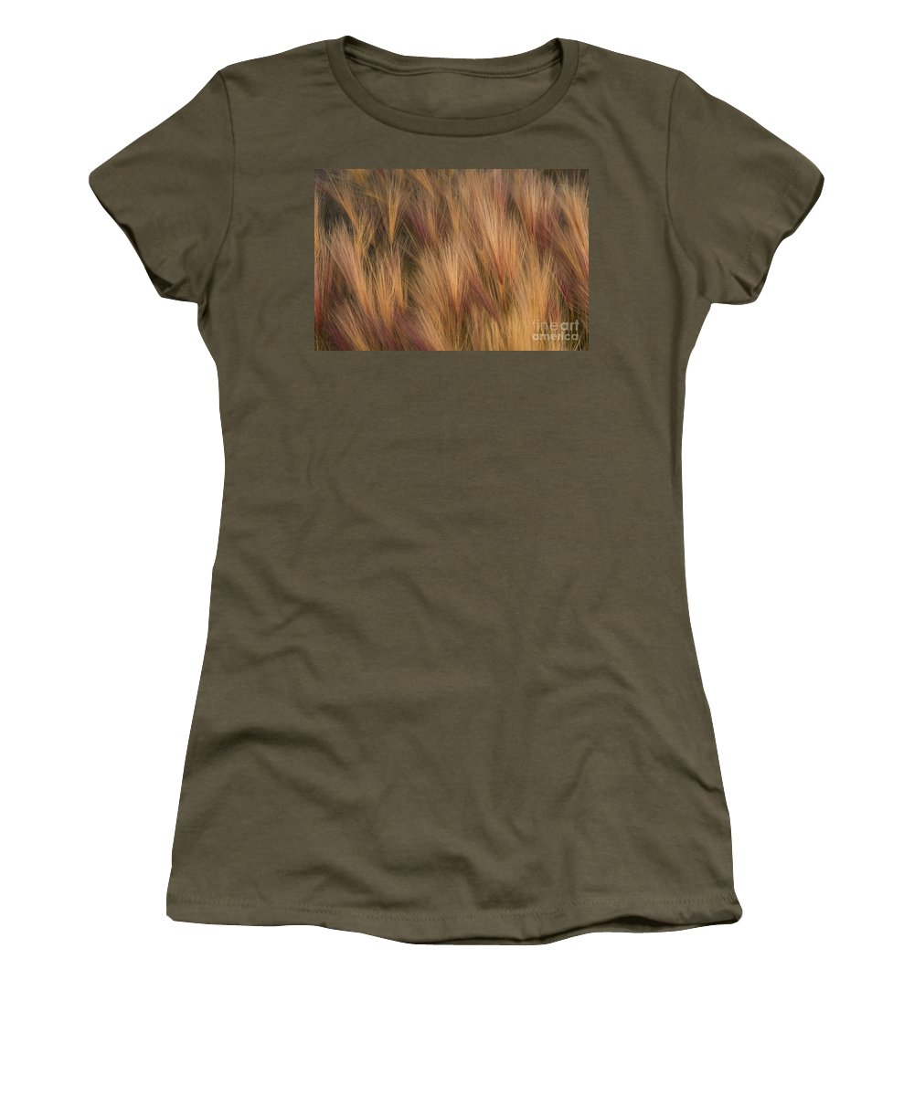 Foxtail Women's T-Shirt featuring the photograph Foxtail by Ron Sanford