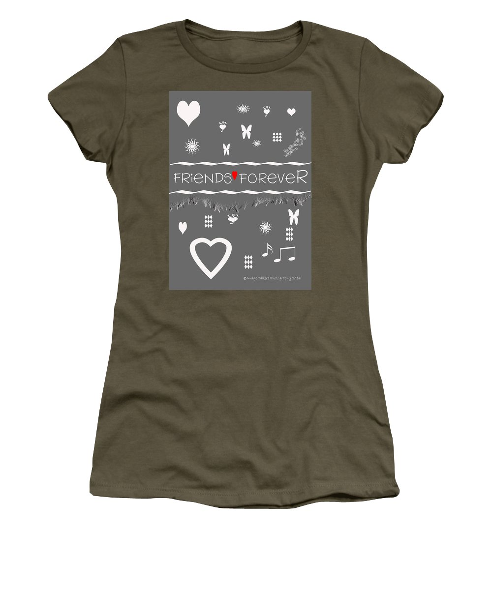 Valentine Women's T-Shirt (Athletic Fit) featuring the digital art Friends Forever Valentine by Image Takers Photography LLC - Carol Haddon
