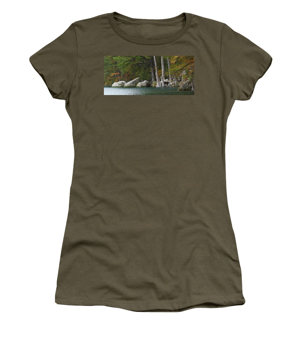 Fall Women's T-Shirt featuring the photograph Frio River 2 by Andrew McInnes