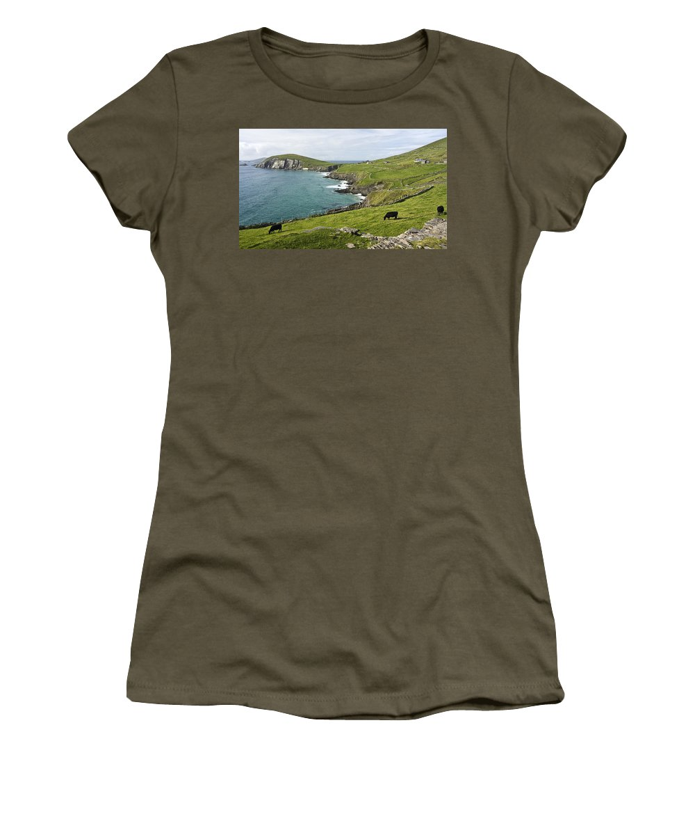 Galway Bay Women's T-Shirt featuring the photograph Atlantic Coast Of Ireland by Sharon M Connolly
