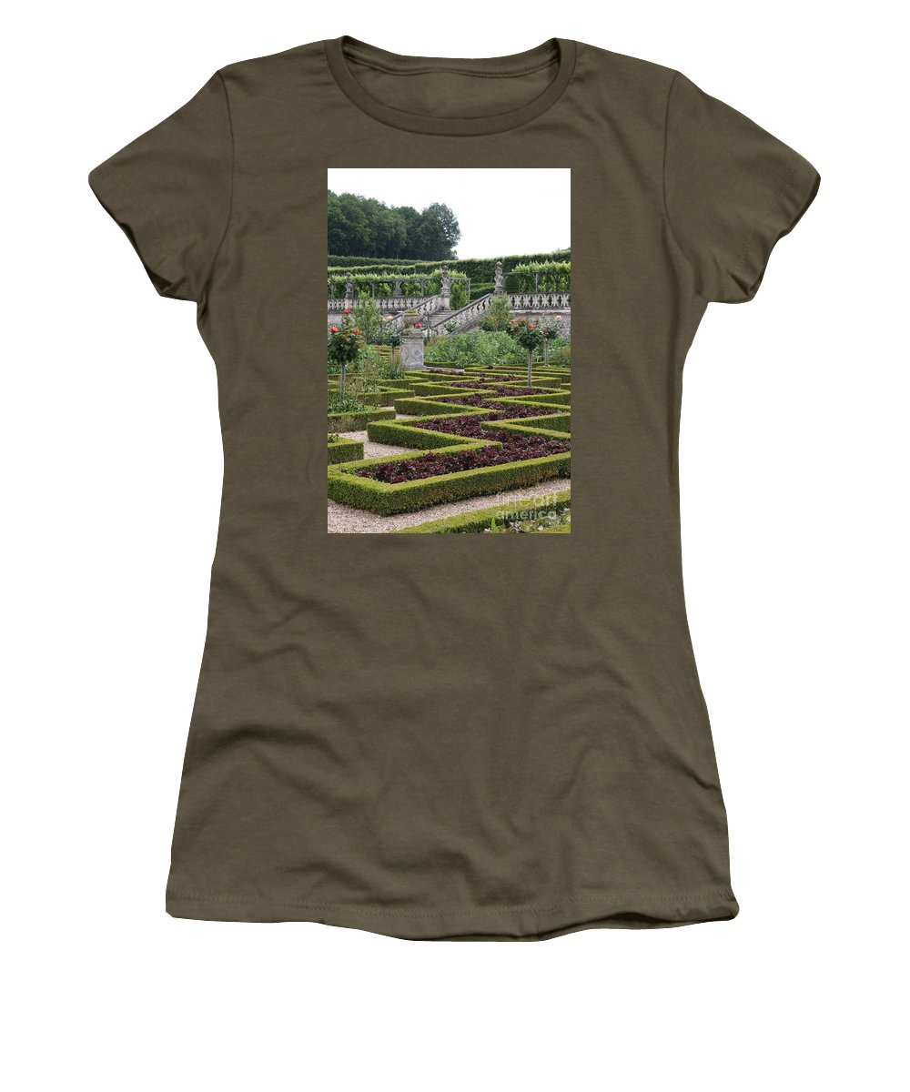 Cabbage Women's T-Shirt featuring the photograph Garden Symmetry Chateau Villandry by Christiane Schulze Art And Photography