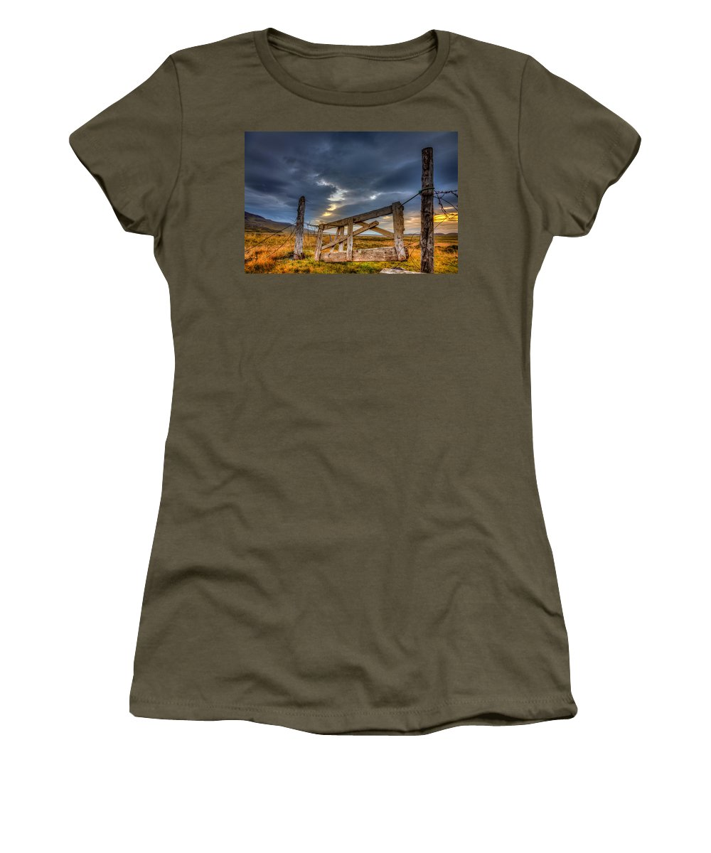 Europe Women's T-Shirt featuring the photograph Gate To... by Alexey Stiop