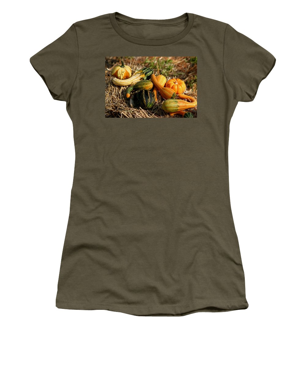 Harvest Women's T-Shirt (Athletic Fit) featuring the photograph Gather The Harvest by Living Color Photography Lorraine Lynch