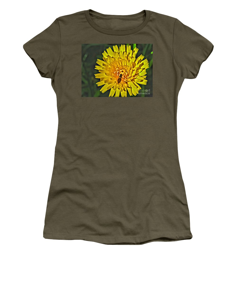 Gather Women's T-Shirt (Athletic Fit) featuring the photograph Gathering Nectar by Scott Hervieux