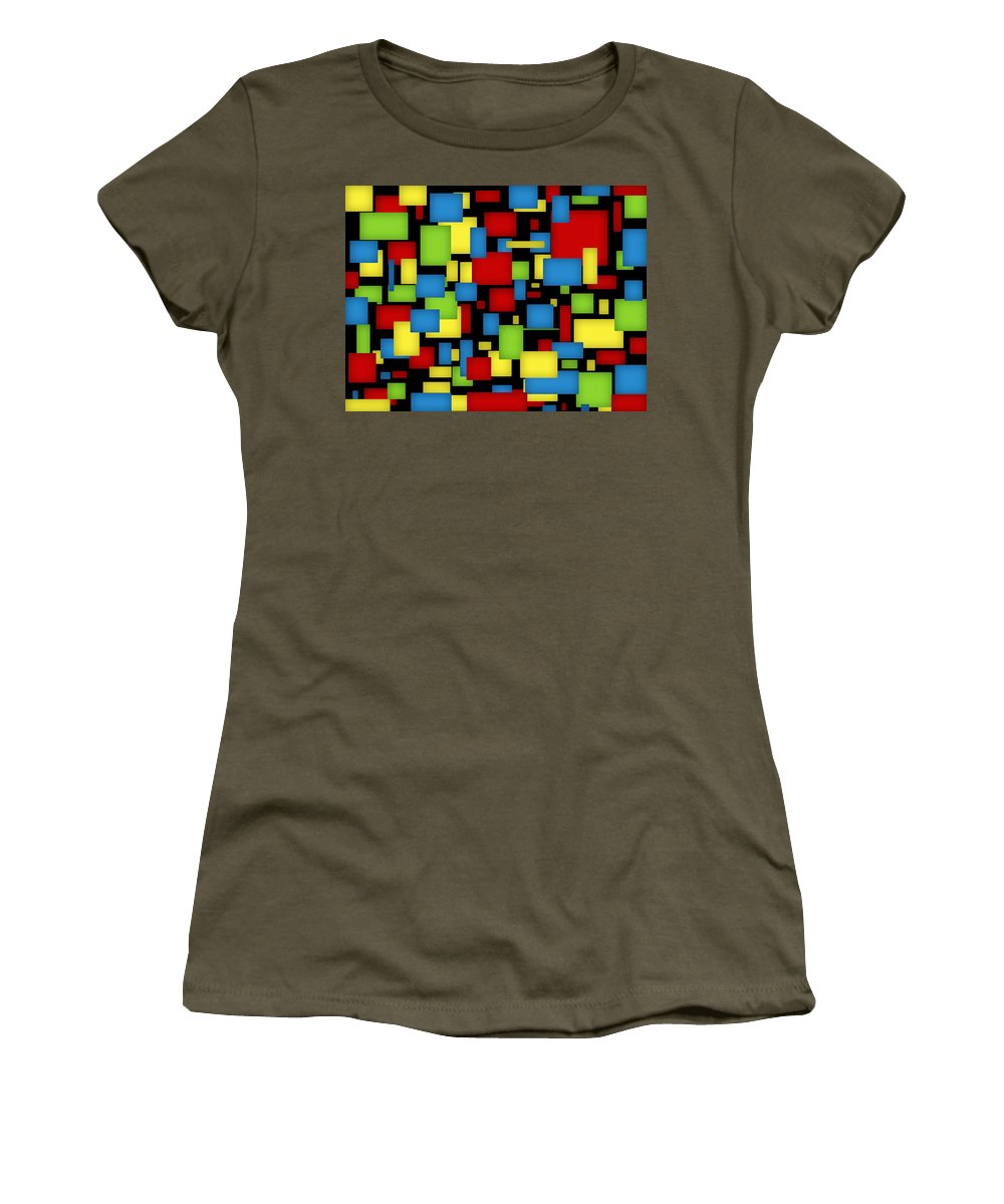 Digital Art Women's T-Shirt (Athletic Fit) featuring the digital art Geometric Art by Gabiw Art