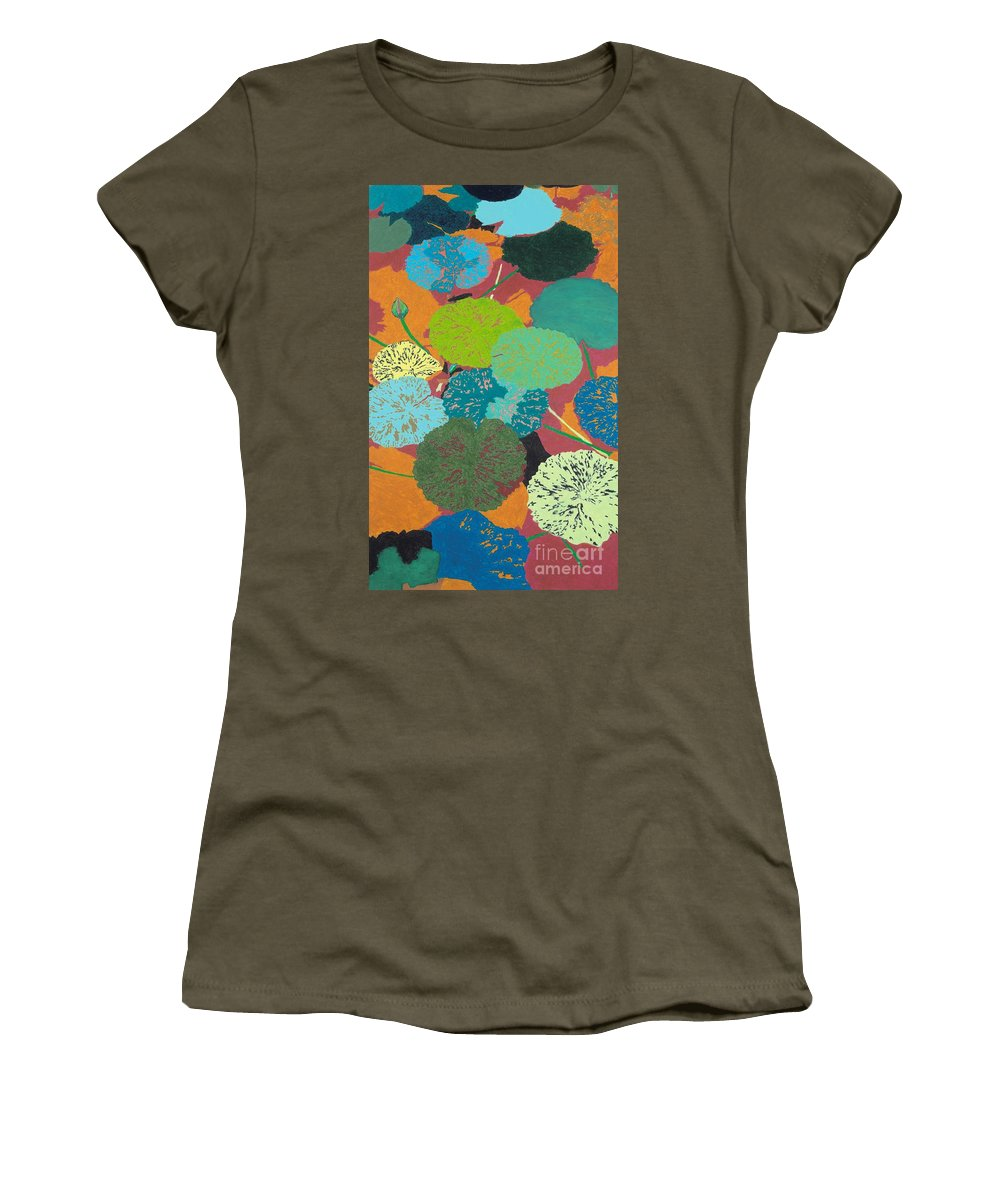 Landscape Women's T-Shirt (Athletic Fit) featuring the painting Georgia Heat by Allan P Friedlander