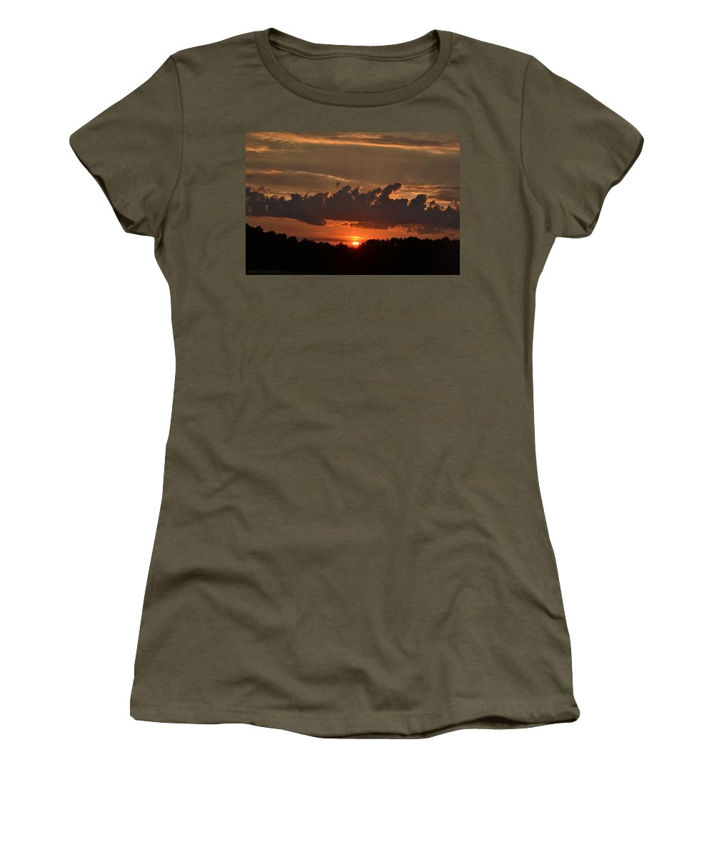 Sunset Women's T-Shirt featuring the photograph Georgia Sunset by Tara Potts