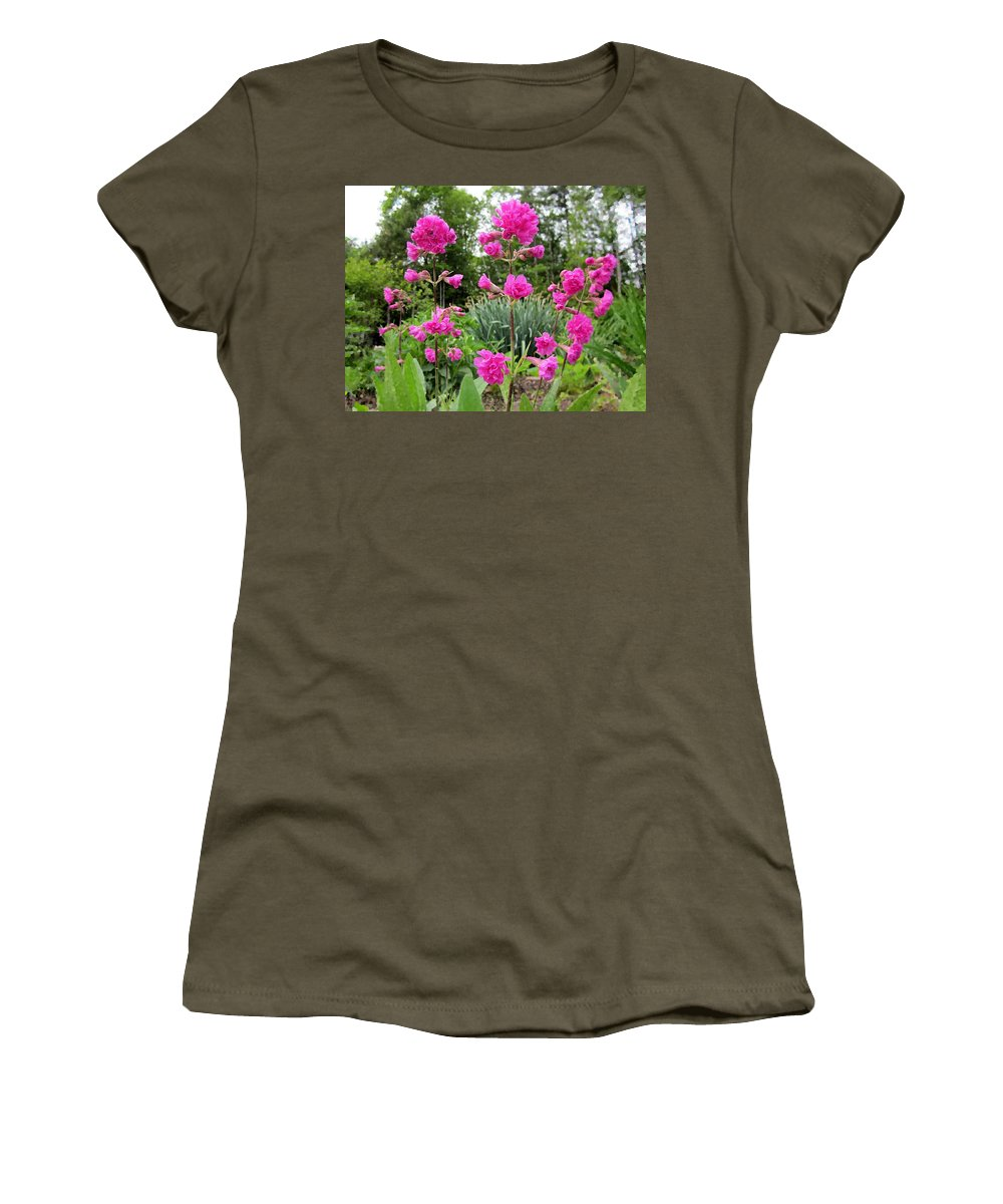 German Catchfly Women's T-Shirt featuring the photograph German Catchfly Pink by MTBobbins Photography