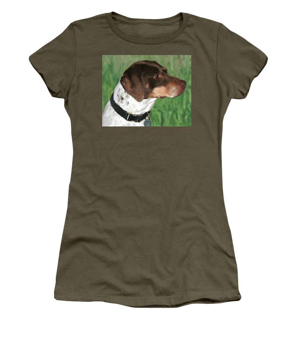 Dog Women's T-Shirt featuring the painting German Shorthaired Pointer by Paul Tagliamonte