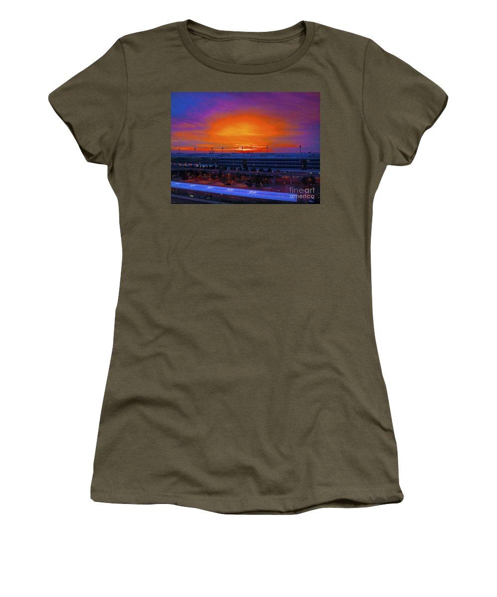 Sunrise Women's T-Shirt featuring the photograph German Sunrise by Howard Stapleton