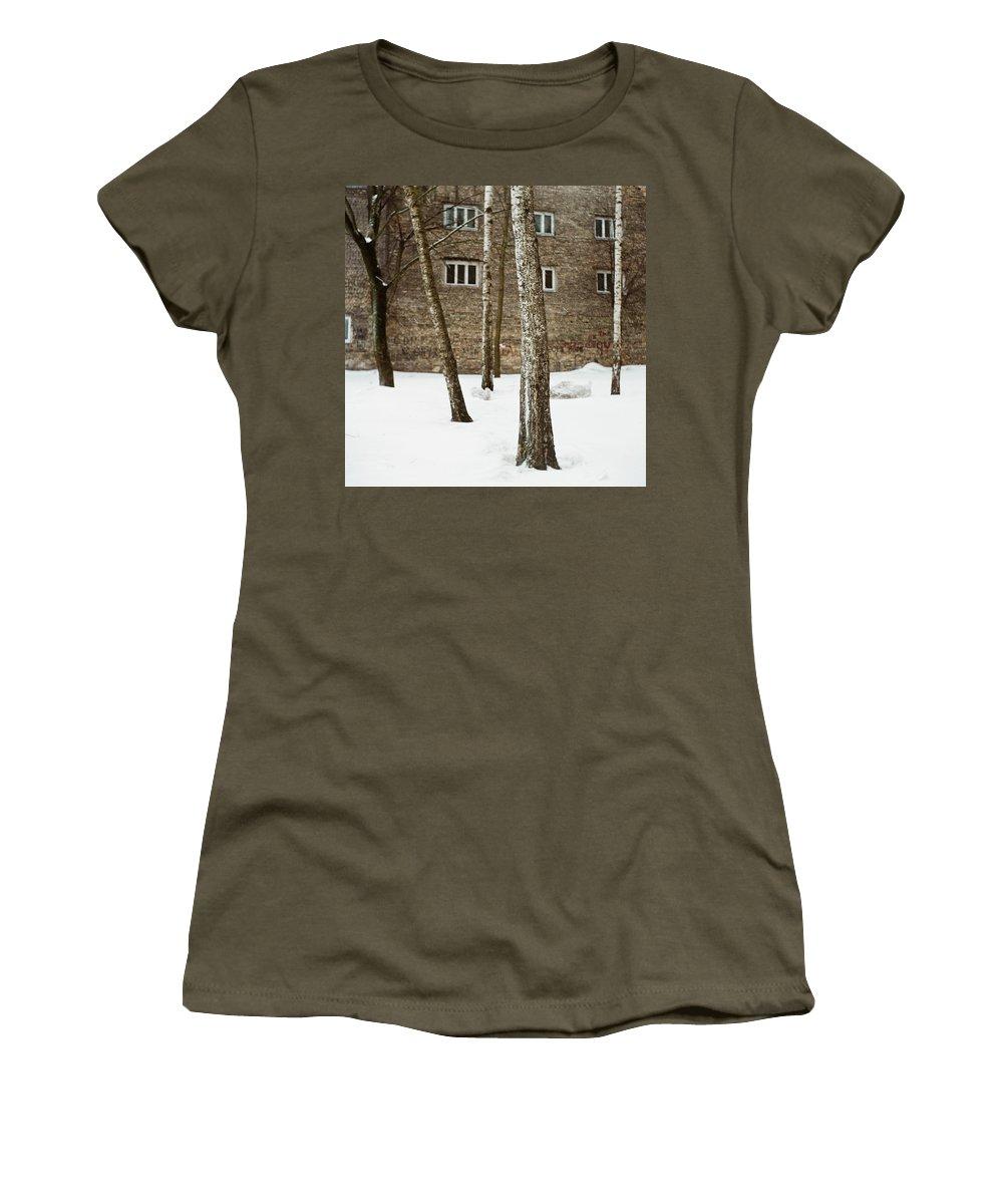 Streetview Women's T-Shirt featuring the photograph Gertrudes Street by Olivier De Rycke