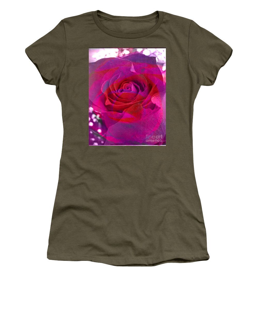 Digital Image Women's T-Shirt featuring the digital art Gift Of The Heart by Yael VanGruber