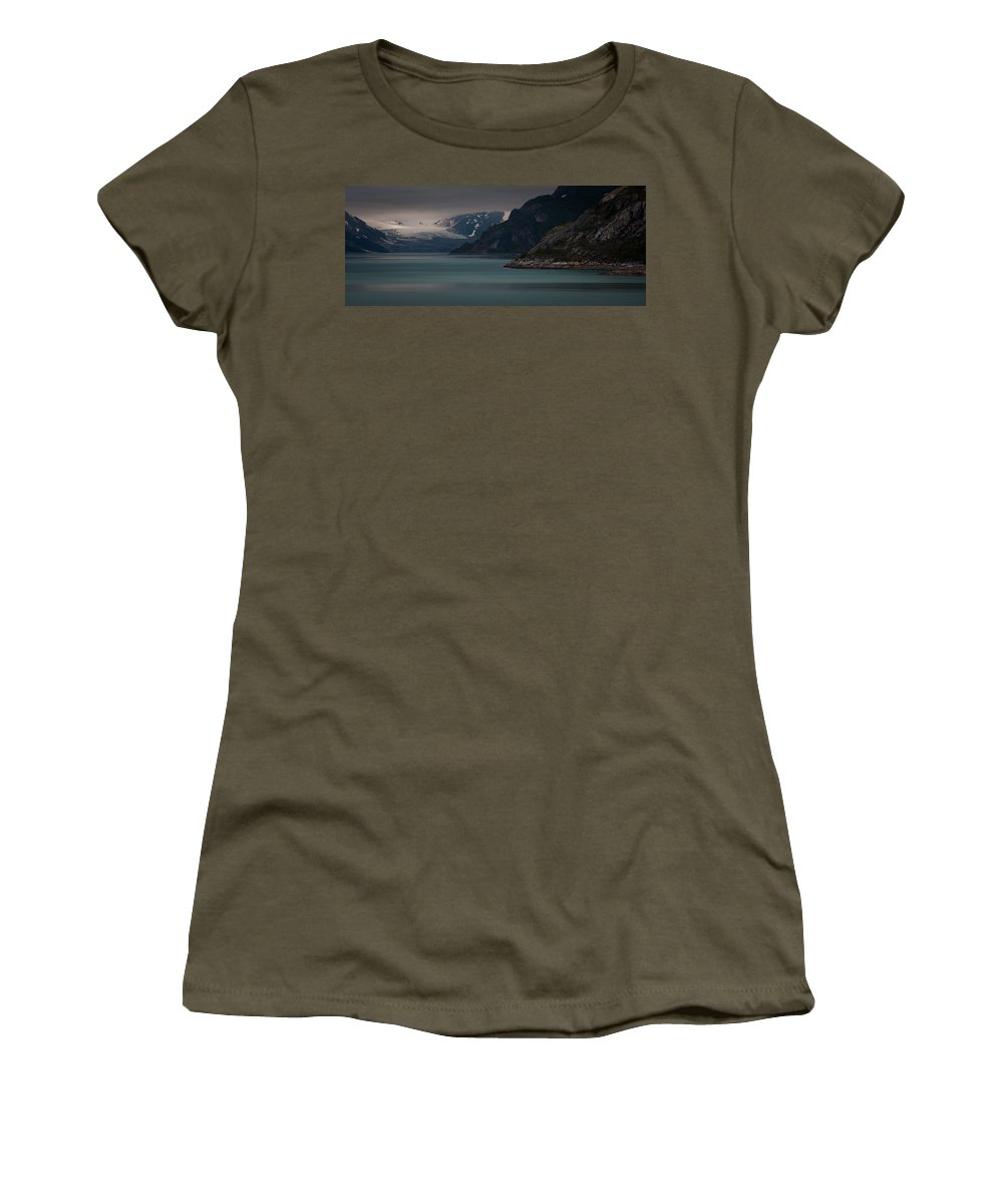 Glacier Bay Women's T-Shirt featuring the photograph Glacier Bay by Dayne Reast