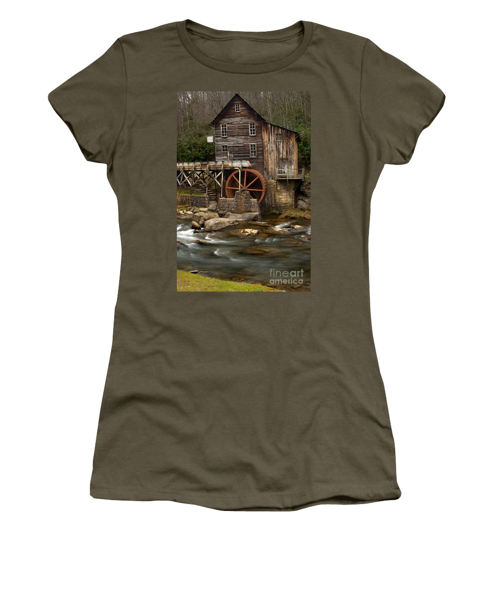 Glade Creek Grist Mill Women's T-Shirt featuring the photograph Glade Creek Grist Mill by Anthony Totah