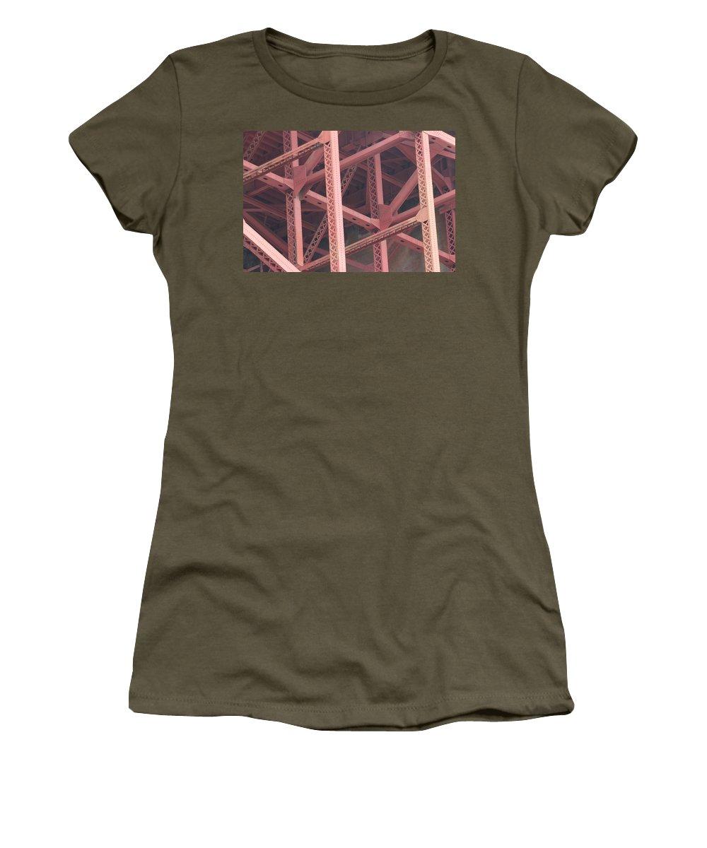 Golden Gate Bridge Women's T-Shirt featuring the photograph Golden Gate's Skeleton by Robert Phelan