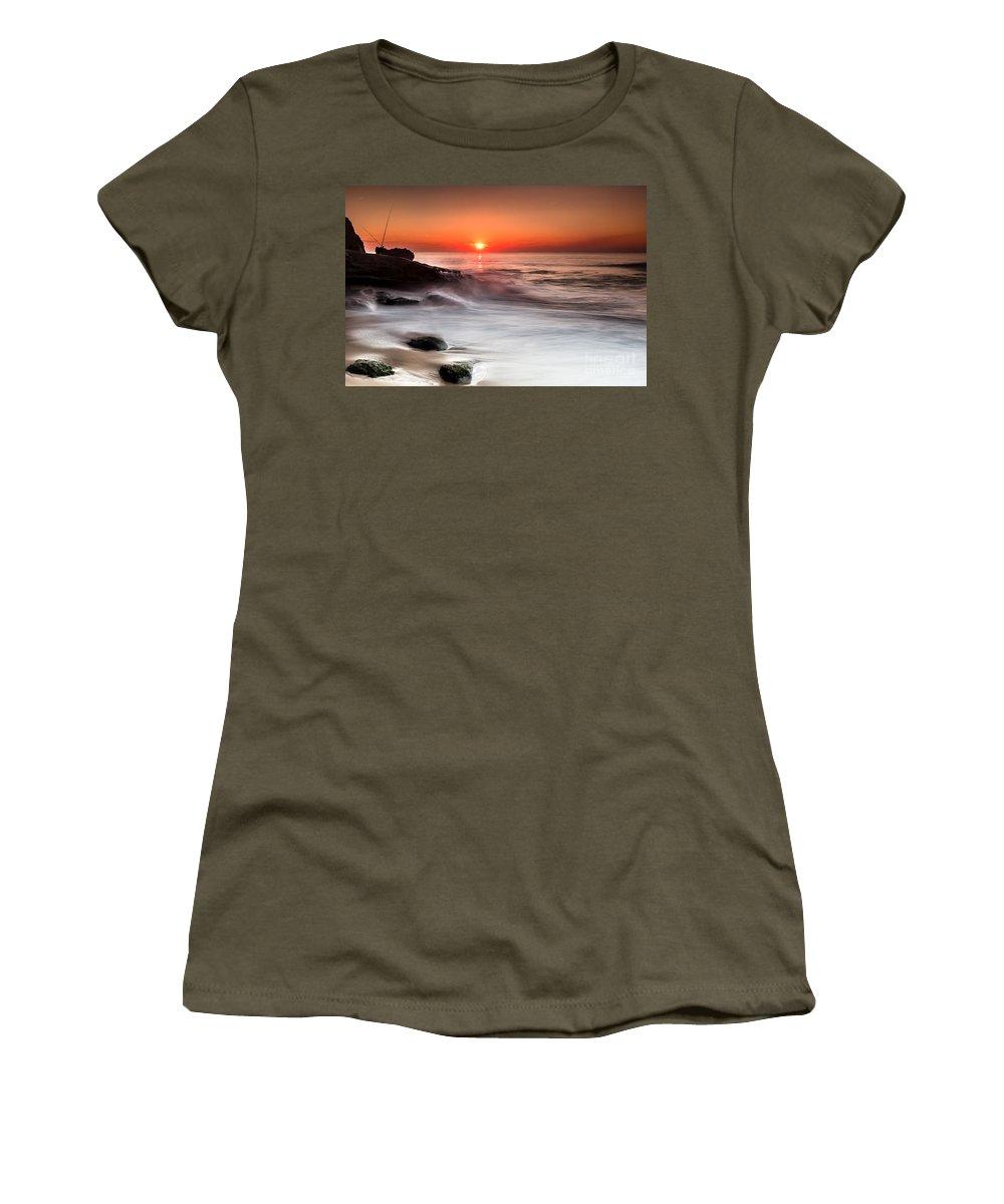 Sunset Women's T-Shirt featuring the photograph Golden Sunset by Edgar Laureano