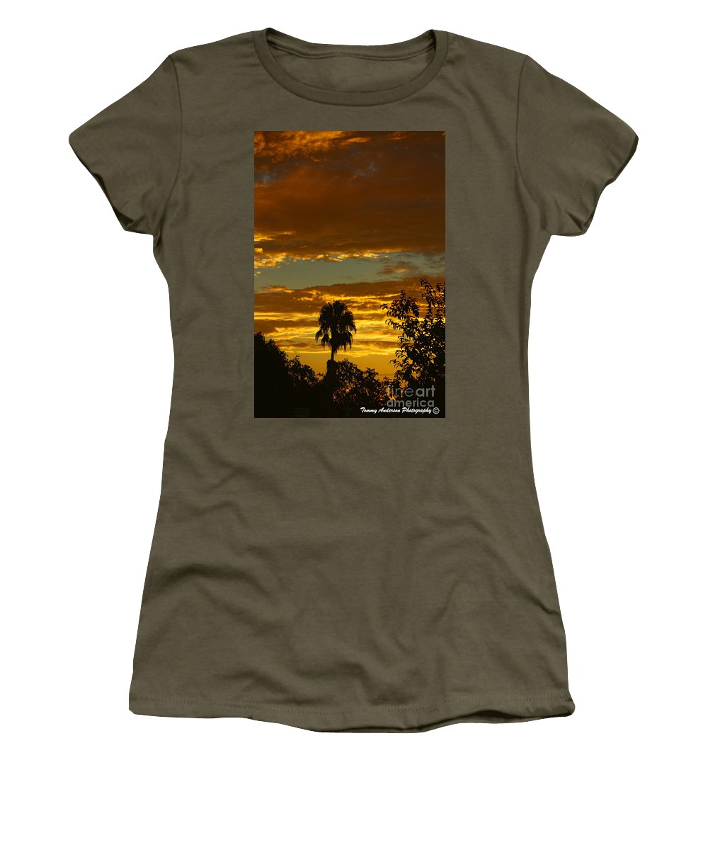 Golden Sunset Women's T-Shirt featuring the photograph Golden Sunset by Tommy Anderson
