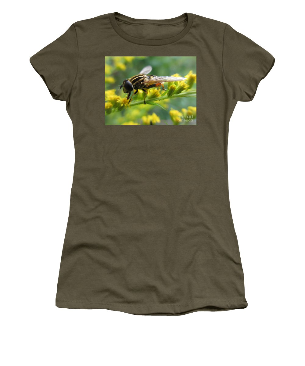 Hoverfly Women's T-Shirt featuring the photograph Good Guy Hoverfly by Martin Howard
