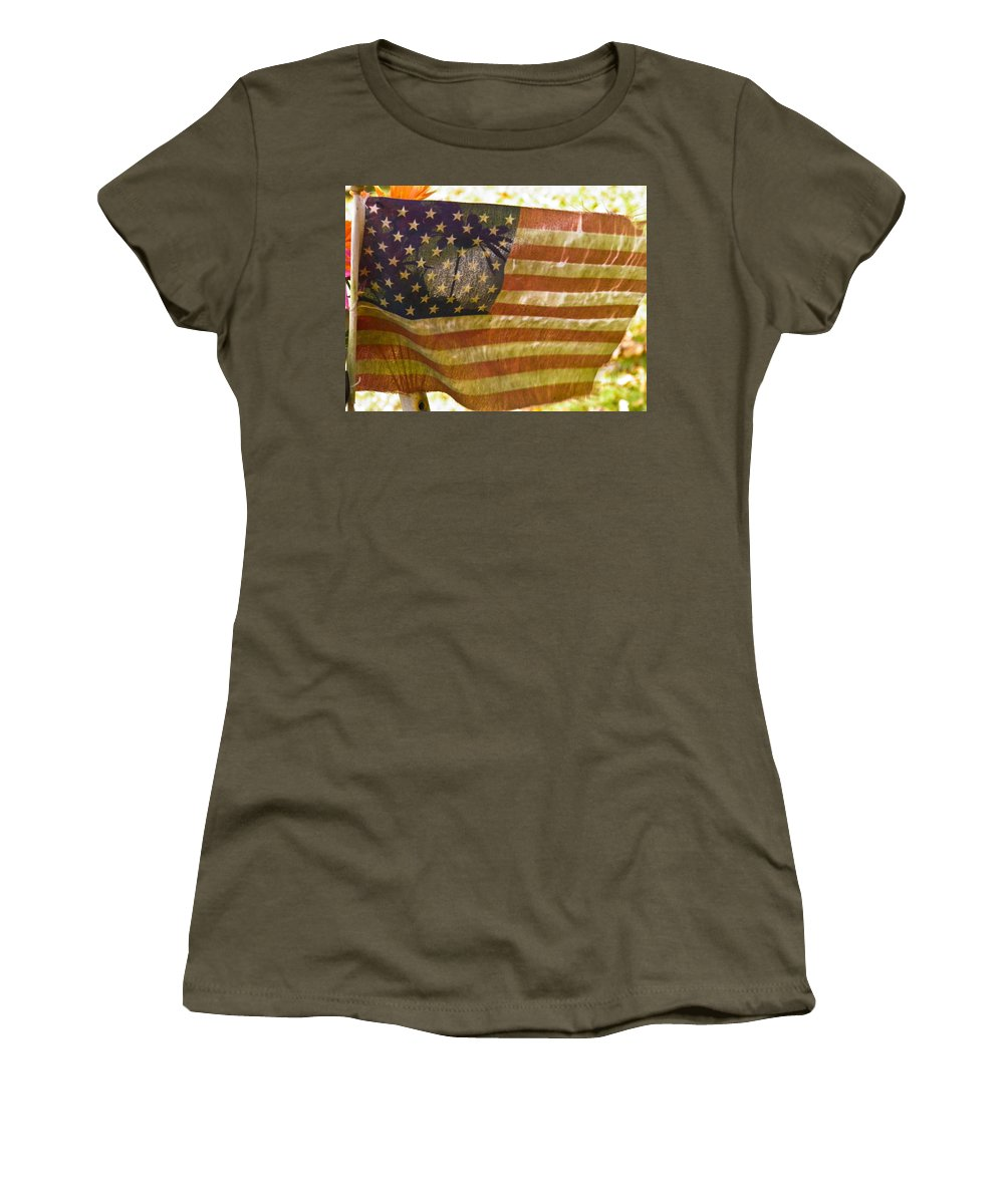 Americana Women's T-Shirt (Athletic Fit) featuring the photograph Good Shape For The Shape Im In by Nick Kirby