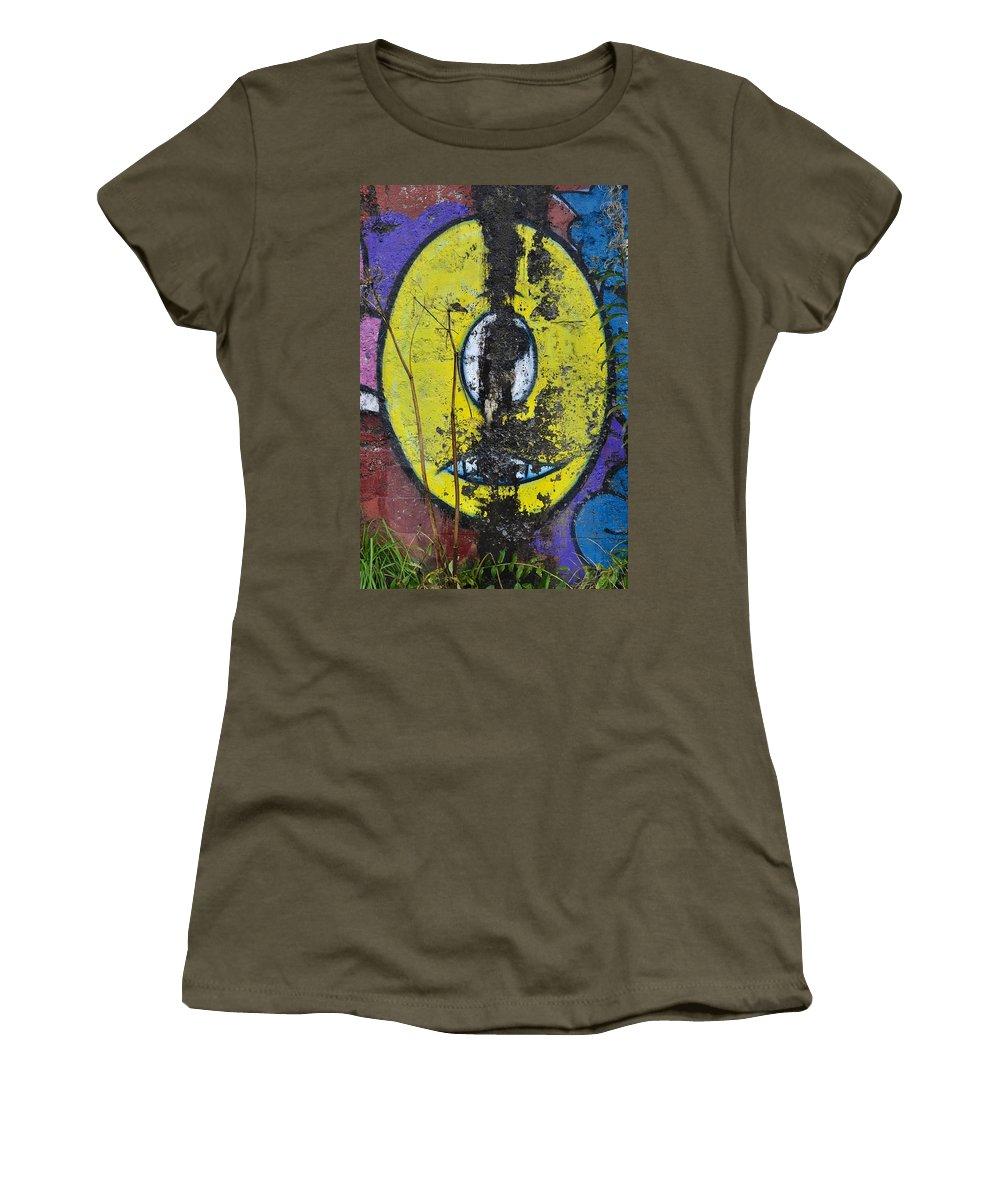Graffiti Women's T-Shirt featuring the photograph Graffitio by Cathy Mahnke