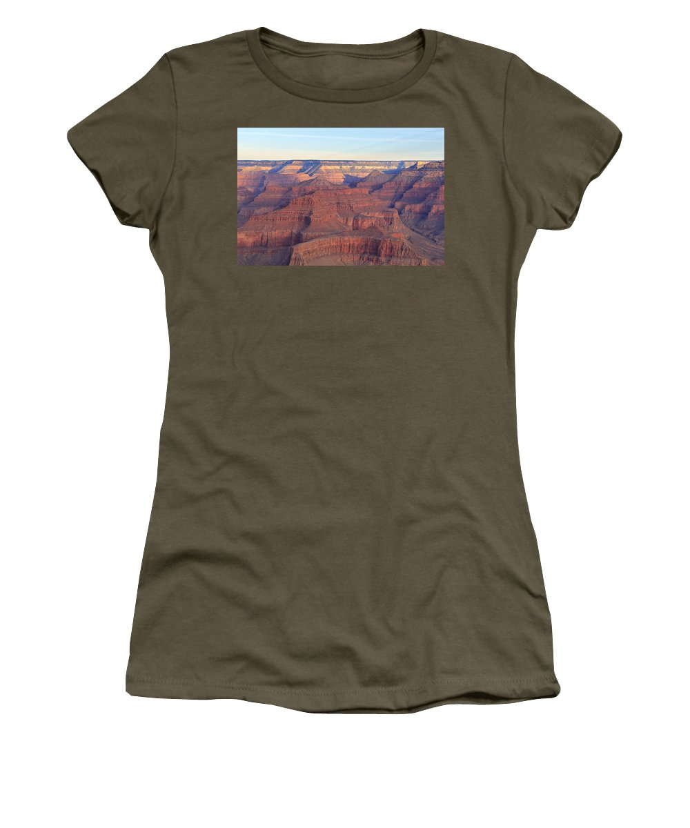 Nature Women's T-Shirt featuring the photograph Grand Canyon Dawn 3 by Noa Mohlabane