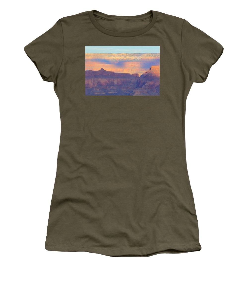 Nature Women's T-Shirt featuring the photograph Grand Canyon Dawn 4 by Noa Mohlabane