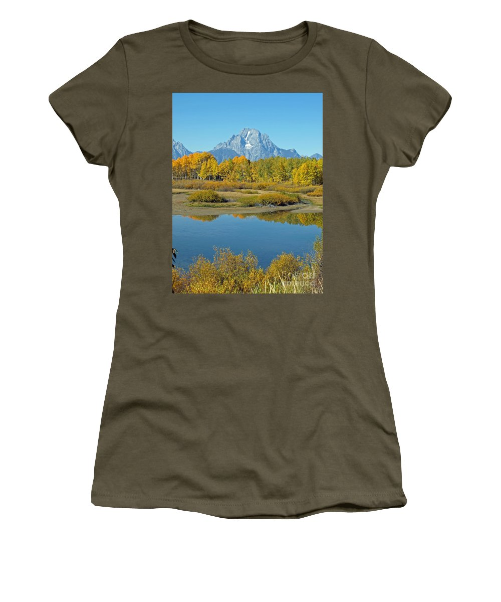 Grand Teton National Park Women's T-Shirt (Athletic Fit) featuring the photograph Grand Teton National Park 3 by Jacklyn Duryea Fraizer
