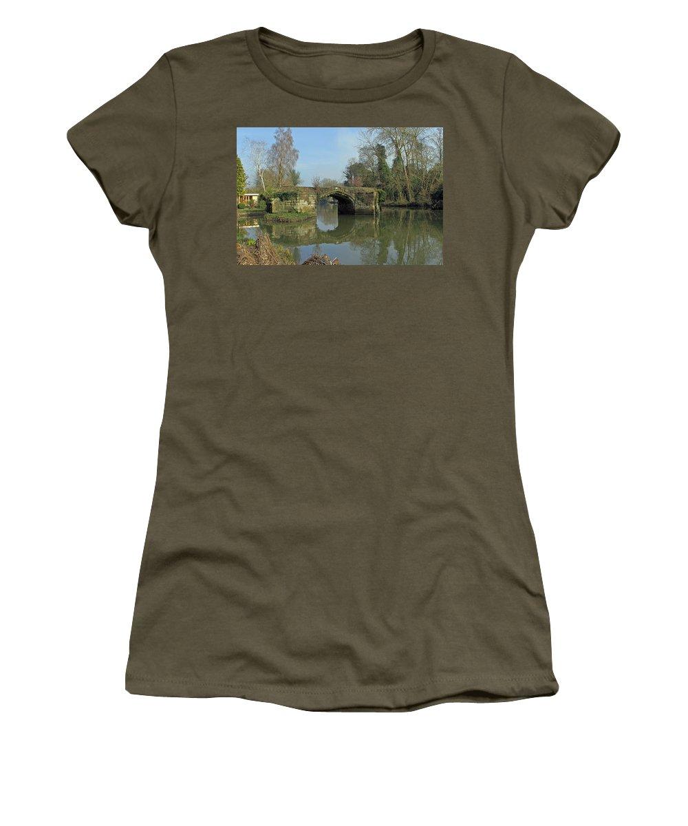 Great Bridge Women's T-Shirt featuring the photograph Great Bridge Warwick by Tony Murtagh